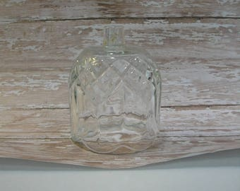 Candle Cup - Home Interiors Vintage Clear Glass Flower Petal Shaped Candle Cup for a Candle Holder