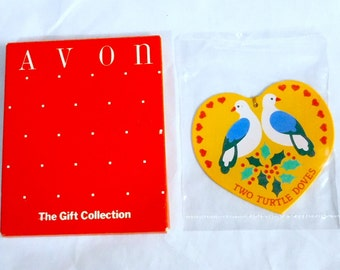 Vintage Avon 12 Twelve Days of Christmas Ornament - Two 2 Turtle Doves, NIB