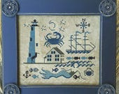 CARRIAGE HOUSE SAMPLINGS Comfort Lighthouse counted cross stitch patterns at thecottageneedle.com Summer nautical ocean sea beach
