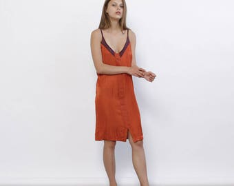 Big Summer Sale Summer Sale Stroppy Summer Mini Dress, Orange .