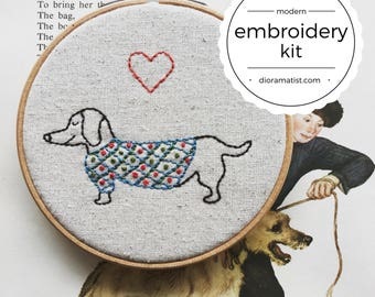 embroidery kit // Oscar Wilde Sweaters - hand embroidery kit