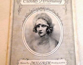 Vintage 1920s Fashion Pamphlet Advertising the Designs of Sally Milgrim 1927 Fashion History