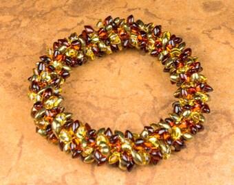 BANGLE Bracelet Bracelet Roll On Bracelet Kumihimo Bracelet Cuff Bracelet Autumn Bangle Gift for Her Christmas Hanukah Birthday Bracelet