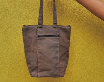 Luck sack, insulated waxed canvas
