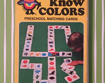 Vintage Color Matching Game - 1980 Educational Game, Kids Card Game, See and Know Colors, The Scribbler's