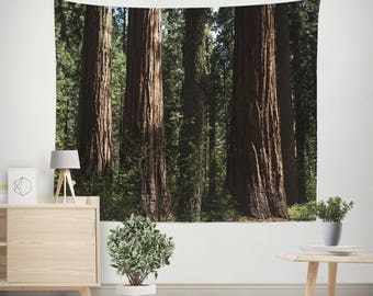 Forest Wall Tapestry, Redwood Trees Tapestry, California Wall Art, Forest  Bedroom, Forest