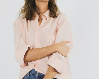 Blush Silky Button Up Shirt