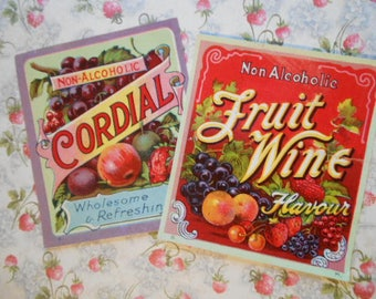 Pre-1920s Cordial and Wine Litho Labels NOS