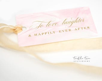Favour Hang Tags (To Love, Laughter and Happily Ever After) - Wings of Love (Style 13743)