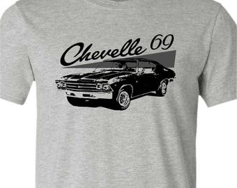 Muscle Car T-Shirt-1969 Chevelle t-shirt-Grey t-shirt-Classic Car gift,Muscle car,gift for him,dad gift,brother gift,gifts under 25
