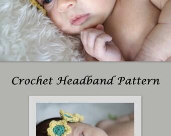 Crochet Flower Headband Pattern - Crochet Patterns by Deborah O'Leary
