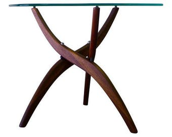 ROSEWOOD + GLASS Mid Century MODERN Coffee Table Forest Wilson