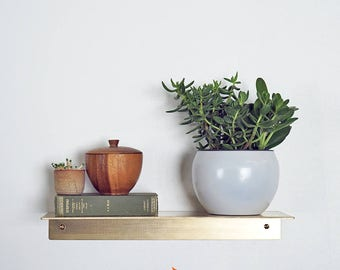 Blanton Brass Shelf Ledge Bent Shelves