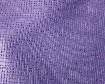 "Leather 12""x12"" PANAMA Amethyst PURPLE Basket Weave Embossed Cowhide 2-2.5 oz/0.8-1 mm PeggySueAlso™ E8000-05 Full hides available"