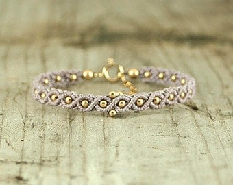 beaded bracelet, Bohemian Jewelry, macrame bracelet, purple bracelet, Boho Bracelets, Boho Christmas Gift for Her, Boho Chic Jewelry, Unique