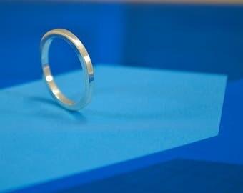 Minimal Ring, Wedding Ring, Sterling Silver Ring, Modern, Contemporay, Minimalist