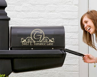 Mailbox Decal - Name Decal - Mailbox Scroll Decoration - Personalized Mailbox Decal - Personalized Decals