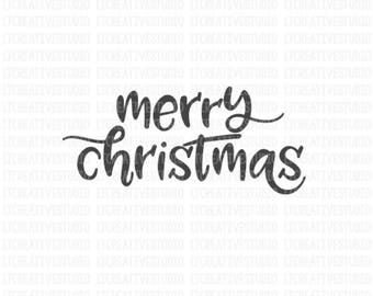 Merry Christmas SVG, Merry Christmas SVG, Christmas SVG, Svg Files, Cricut Cut Files, Silhouette Cut Files