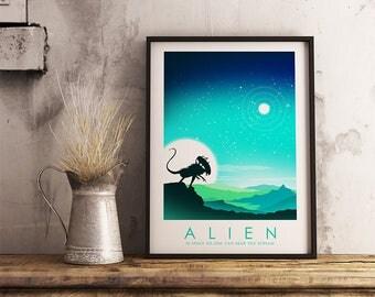 1979 Alien Movie Poster, Home Cinema Art,Film Print, Movie Print, Film Poster Art Print Home Decor Wall Art