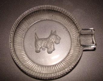 Scottie Ash Tray, Pin Dish, Good Quality Glass