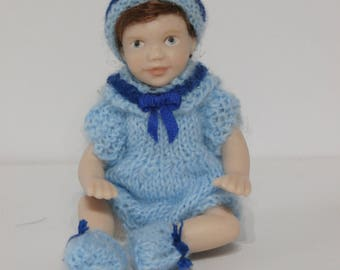 Dolls House Doll LEE - OOAK Handmade 1/12 scale Porcelain Girl Doll