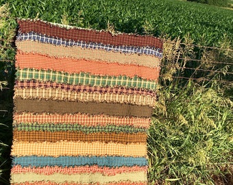 Sale - Rustic Patchwork Rag Quilt Throw, READY TO SHIP! Rustic Home Decor,  Homemade Quilt, Primitive Quilt, Strip Quilt, Throw Quilt