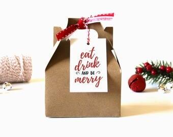 Christmas Gift Tags - (Set of 10) - Christmas Tags, Gift Tags, Holiday Gift Tags, Xmas Tags, Christmas Wrapping, Gift Wrap, Christmas Party
