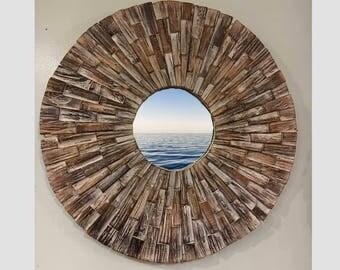 Beach Decor, French Sunburst mirror by SEASTYLE