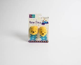 Vintage 1990s Disney Winnie The Pooh Shoe Bow Ties Accessory
