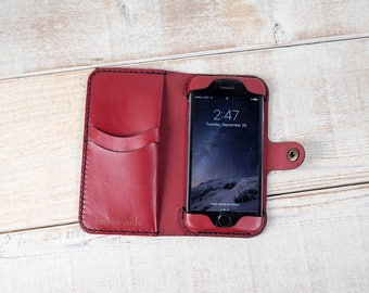 iPhone 7 Wallet Phone Case, iPhone 7 Leather Case, Leather iPhone case, iPhone 7 case, iPhone 7 wallet, leather phone case, handmade case