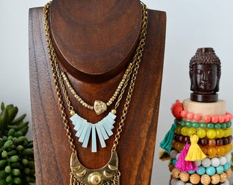 Amazonite Bib Necklace