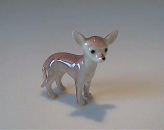 Vintage miniature Hagen Renaker brown Chihuahua dog