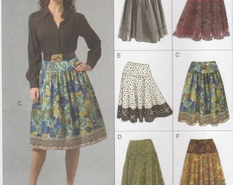Modern Skirt Pattern Vogue 8295 Sizes 6 - 12 Uncut