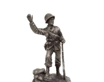 Vintage The GI Pewter Figurine Franklin Mint The American Collection Soldier Figure Army Soldiers MIB