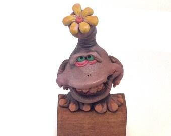 Abner The Noisomenesist, Hand Made OOAK Original Polymer Clay Figurine