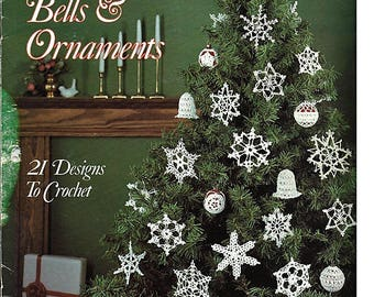 Snowflakes Bellls & Ornaments to Crochet  Pattern Book Leisure Arts Leaflet 363