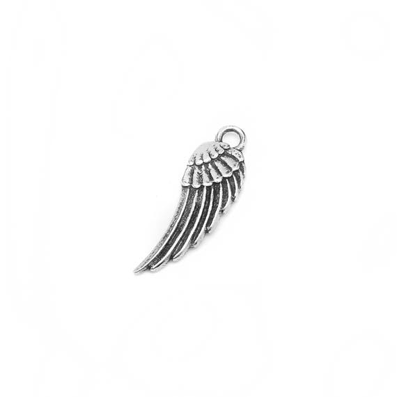 Wing Charm - Add a Charm to a Custom Charm Bracelets, Necklaces or Key Chains - Read Description for More Info - Nickel Free Charms