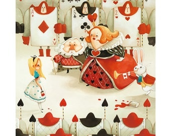 Print - The king and the queen of hearts