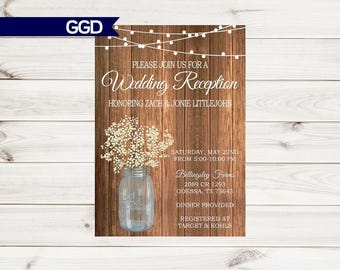 wedding and reception invitations