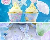 Mermaid Cupcake Toppers, ...