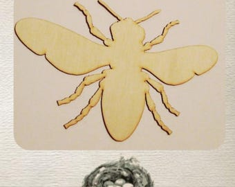 Bumble Bee - (Small) Wood Cut Out -  Laser Cut