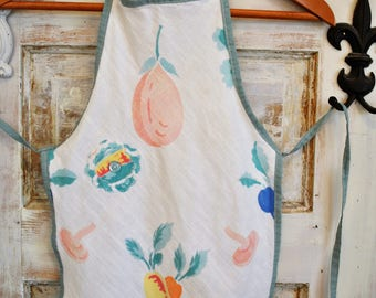 CLEARANCE Christmas Aprons |  Vintage Washed Linen Aprons | Little Girl's Aprons | Ellie Ann and Lucy