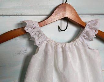 Off White Flower Girl Dress | Boho Flower Girl Dress | Outdoor Wedding | Ivory Flower Girl |Ellie Ann and Lucy