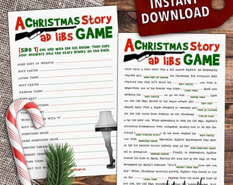 A Christmas Story Movie Mad Lib - Printable Holiday Party Game [Download]