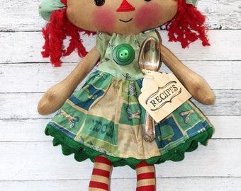 Kitchen Stock Mini Emma Anne Primitive Raggedy Ann Doll (HAFAIR)