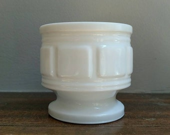 Vintage Randall Footed Milk Glass Planter