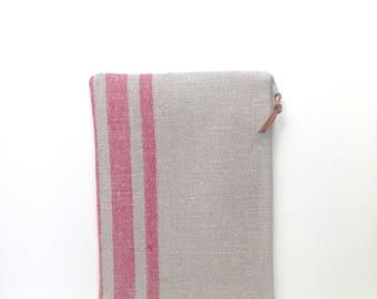 Striped Linen Clutch Striped Bag