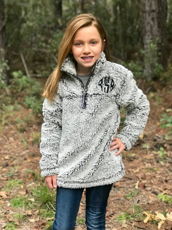 Monogrammed Sherpa Pullover Women's and Girls Monogrammed