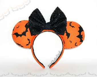 Bat Mouse Ears || Halloween Mouse Ears || Not so Scary Mouse Ears || by Born Tutu Rock
