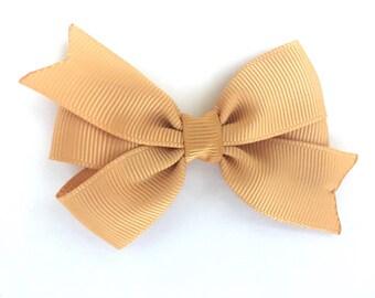 3 inch gold hair bow - gold bow, hair bows, girls bows, girls hair bows, baby bows, toddler hair bows, pinwheel bows, 3 inch hair bows, bows